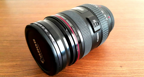 Canon Ef 24-70mm 2. 8 L Usm Lens + Uv+cpl+parasoley