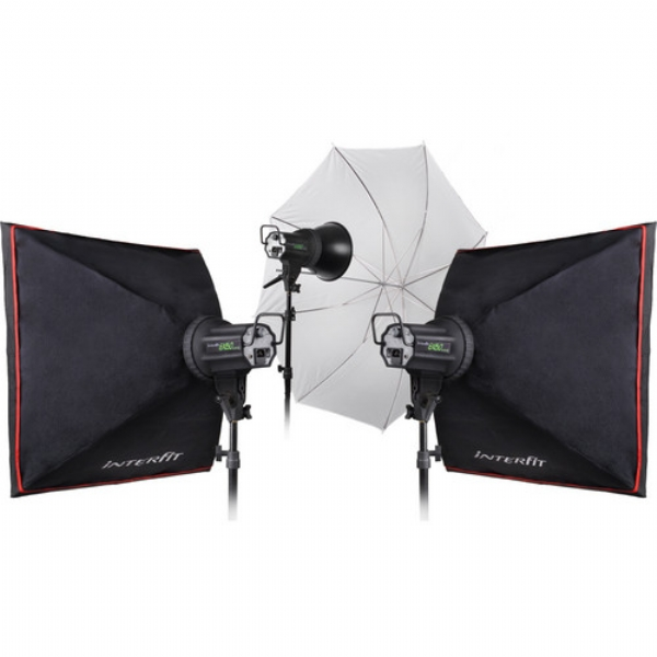 Interfit Ex 150 Home Studio 3 Head Flash Kit