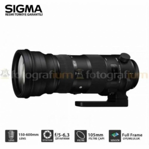 Sigma 150-600mm Os Dslr Lens +mc Uv Filtre